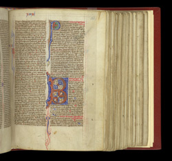 Decorated Initials, In A Bible f.166r